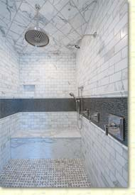 Master shower tilework